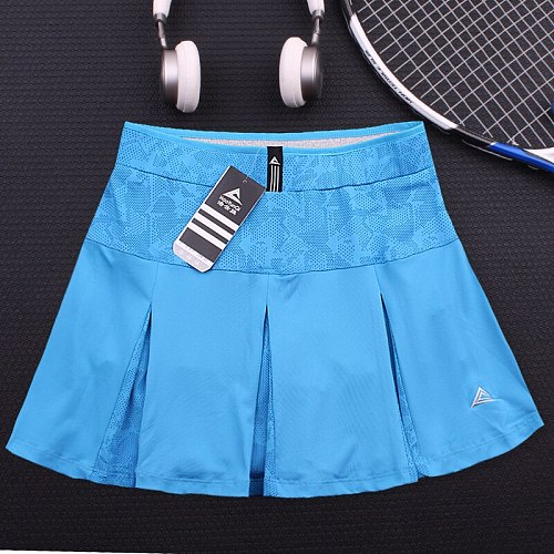 2020 New women tennis skirt pants women's badminton loose elastic lining anti-failure running sports fitness skirt sport shorts