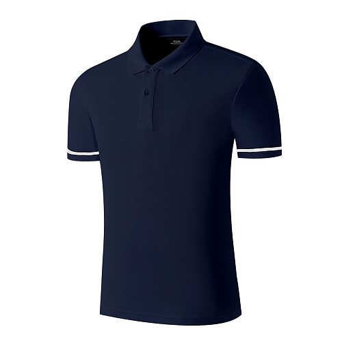 SANHENG Brand Men-Polo Shirt Men Business Casual Solid Male-Polo Shirt Short Sleeve Plus Size IG Sanhengsports