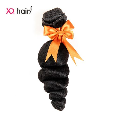 XQ 3 Bundles 100 Human Hair Weave Brazilian Loose Wave Natural Color Non Remy 8-26 inch Human Hair Extensions