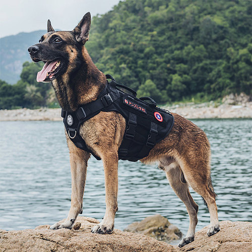 OneTigris X DESTROYER K9 Harness 3 Handled Heavy Duty Dog Vest With Metal Buckles MOLLE Training Harness for Service Dog
