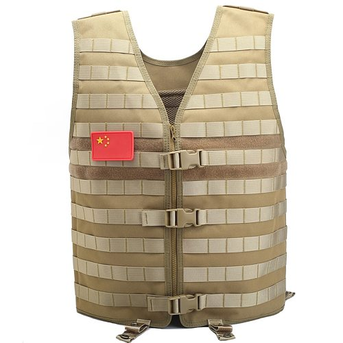Tactical Vest Modular Mesh Molle Vest Outdoor Camouflage Vest Gear CS Wargame Hunting Breathable Utility Waistcoat Adjustable