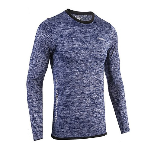 Men Long Sleeve Casual Skinny T-Shirts New Autumn Running Sweatshirt Gym Tops Breathable Quick Dry Fitness Sportswear Tees S-2XL