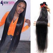 32 34 36 40 Bone Straight Hair Bundles WOWQUEEN 100% Human Hair Bundles Remy 30 Inch Bundles Soft Brazilian Hair Weave Bundles