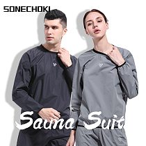 2021 New Sauna Suit Mens Womens Gym Clothing Set O-Neck Pullover Sportswear Running Fitness Weight Loss Sweating Sports Suit