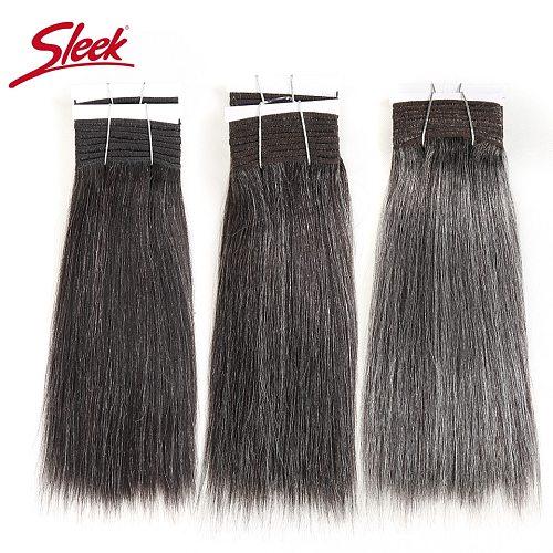 Sleek Colorful Hair Brazilian Hair Weave Bundles Straight Hair bundles #44 #34 #280 51# Piano Gray Remy Human Hair Extensions
