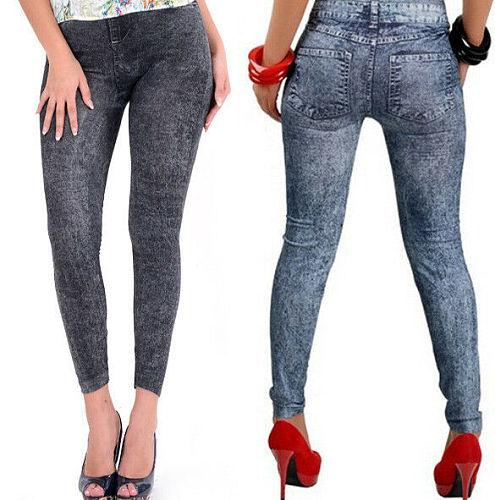 2020 Fashion Womens Fitness Leggings Skinny High Waist Trousers Super Cheap Ladies Denim Stretchy Pencil Pants Summer