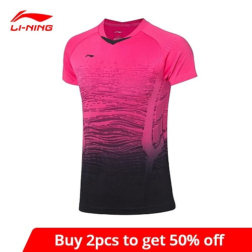 Li-Ning Men's Badminton Competition T-Shirts AT DRY Breathable Comfort Tops LiNing Sports Tees T-Shirt AAYP329