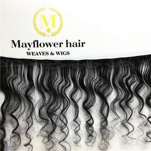 Mayflower 100% unprocessed Virgin Malaysian hair natural wave 1/2/3/4 bundles full cuticle hair weft 12-26  mix length