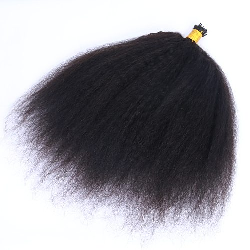 Kinky Straight Machine Made Hair Extensions 1g/pc 100pcs/Set I Tip Human Hair Extensions 8-30inches Microlinks Stick Extensions