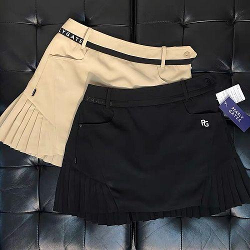 PG Women's Golf Short Skirt Fashion Pleated Skirt Looks Slim