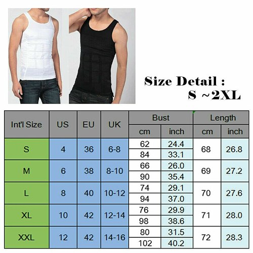 Men Body Slimming Shaper Vest Slim Chest Belly Waist Boobs Compression Shirts UK