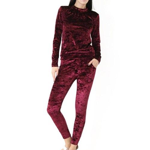 Autumn Velvet Tracksuit Women Set Suits Winter Velour Tracksuit Suit Plus Size Two Piece Sets Women 2 Piece Outfits Sweatshirt