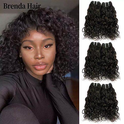 Curly Wave Hair Bundles 6Pcs/Lot 190g/Lot Brazilian Human Hair Bundles Nature Black Human Hair Extension Remy Hair Brenda Hair
