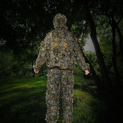 Outdoor Ghillie Suit Hunting Camouflage Clothes Jungle Suit CS Training Leaves Clothing Men Women Suit Pants Hooded Jacket