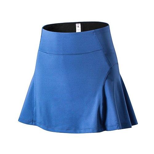Anti Glare Stretch Shorts Liner Sport Tennis Skirt Quick Dry Loose Women Running Skirts Summer Badminton Skirt with Pocket