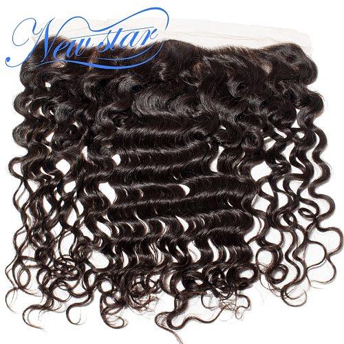 Loose Deep Frontal Center Silk Based Brazilian Human Hair 13x4 Frontal New Star Virgin Hair Ear to Ear Frontal Closure