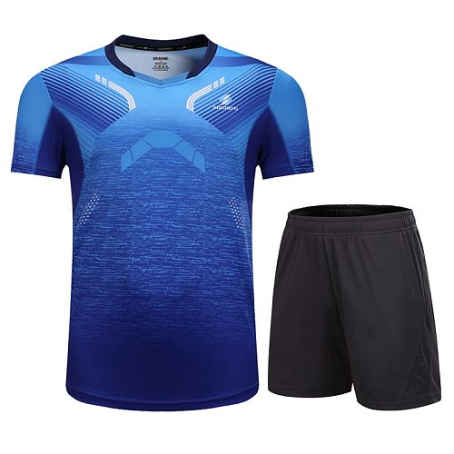 Tennis sportswear men's and women's tennis shirts + shorts badminton uniform table tennis clothing breathable sportswear