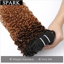 Spark 1/3/4 Bundles Afro Kinky Curly Human Hair Extensions Ombre Brazilian 100% Human Hair Weave Bundles Blonde Brown Black Remy