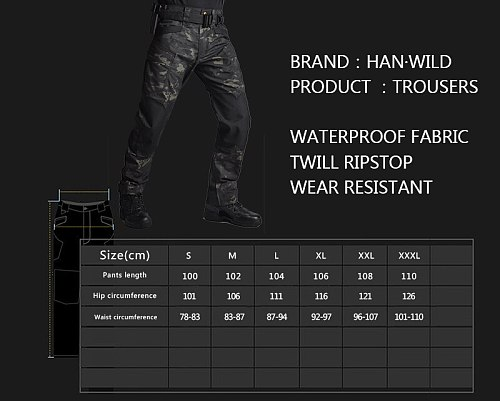 Tactical Pants Hunting Pants Military Cloth Army Camouflage Cargo Pants Knee Reinforced Airsoft Durable Dropshipping Tear-proof
