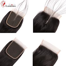 Straight Lace Closure Pre Plucked With Baby Hair Natural Hairline Brazilian Remy Human Hair 4x4 Closure Hair Light Brown or HD