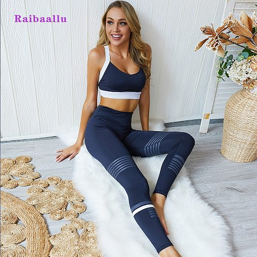 Women Fitness Sports Suit Seamless Yoga Set Sports Bra and Leggings Jogging Women Gym Set Clothes Seamless Workout Sports Tights