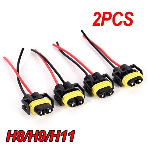 2x H11 H8 Headlight/Fog Lamp Sealed Waterproof Electrical Wire Connector Plug Terminal For Car Truck Vehicle Motorbike Universal