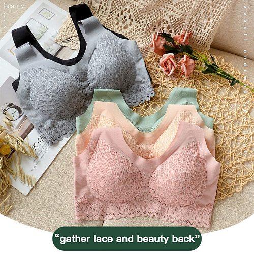 5 Colors Bras for Women 5D Wireless Contour Bra Lace Breathable Underwear Seamless bra for Sports Yoga Running Women's underwear
