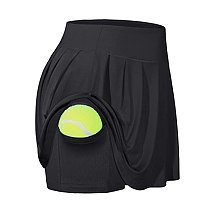 2020 Anti Exposure Tennis Skirts Fitness Running Skorts Women Quick Drying Sport Skirt Pocket High Waist Gym Yoga Skirt Gymwear