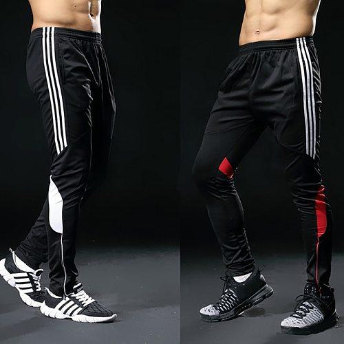2019 Hot Sale Sports Pants For Men Fitness Gym Football Leggings Thin Running Soccer Training Long Futbol Trouser White