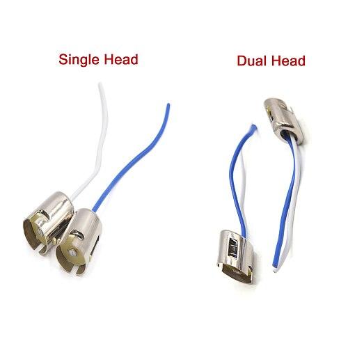 6pcs 8pcs 12pcs 16pcs 20pcs BA15s Turn Signal Light Single Dual Head Bulb Harness Extension Socket Connector Adapter 12V-36V