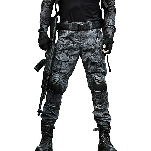 Tactical Gear Combat Pants Hunting Military Cargo Camouflage Airsoft Pants Men with Knee Pads Trousers Army US