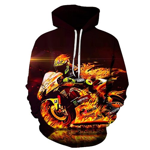 2020 Spring autumn New Men Hoodeds Clothing Hoodies Quick dry Sweatshirts Motorcycle rider Jackets 3D rider print Free shipping