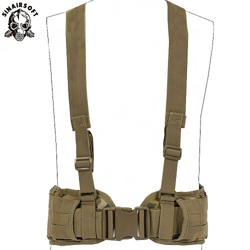 Tactical Vest Molle Belt Men's Army Special 1000D Nylon Military Convenient Combat Girdle EAS H-shaped Adjustable Soft Padded