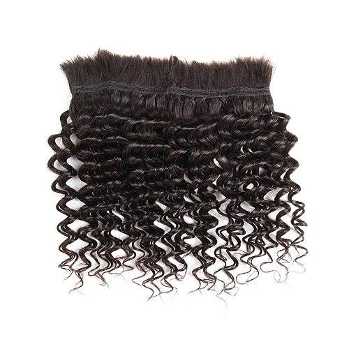 Sleek Pre-Colored Brazilian Deep Wave Human Hair Braiding Bulk No Weft 10 To 30 Inch Remy Bulk Human Hair Free Shipping