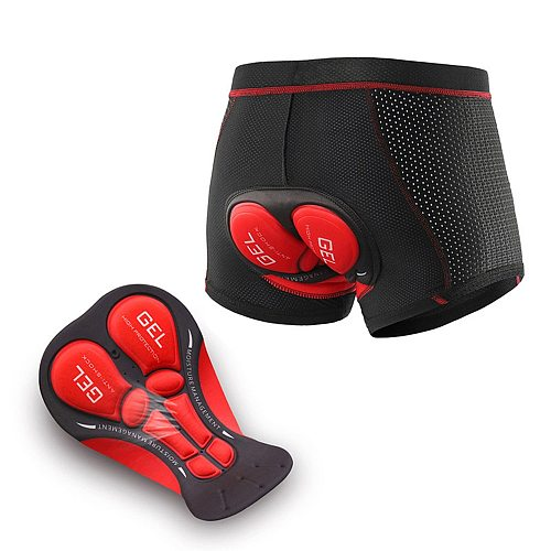 Upgrade Cycling Jersey Men Bicycle Mountain MTB Shorts Gel Pad Shockproof Cycling Underpant Gel Cycling Bike Underwear