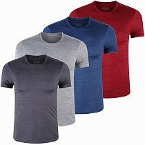Spandex Sports Gym T Shirt Men Short Sleeve Dry Fit T-Shirt Compression stretch Top Workout Fitness Training Running Shirt S-6XL