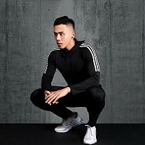 3pcs / set Men's Workout Sport Suit Gym Fitness Compression Clothes Running Jogging Sport Wear Exercise Workout Tights