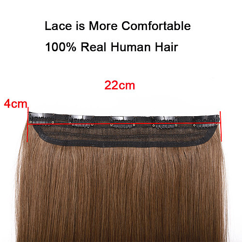 SEGO 8 -24  1Piece With 5 Clips Straight Clip in Human Hair Extensions Around Head Non-Remy 100% Human Hair Extensions 40g-60g