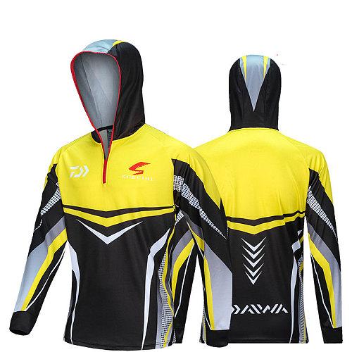 2021 Outdoor Men Daiwa Fishing Clothing Anti-uv Protection Breathable Long Sleeve Hooded Fishing Shirt fishing caps men hats