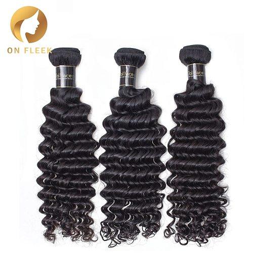 Brazilian Virgin Hair Deep Wave 100 Unprocessed Natural Color Human Hair Weave Bundles 3 Bundles Free Shipping