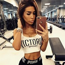 Fitness Women Sports Bra Breathable Crop Top Running Gym Yoga Tank Tops Ladies Seamless Padded Push Up Bras Workout Wear