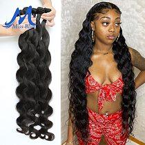 MISSBLUE 30 32 38 40 Inch Brazilian Hair Weave Bundles Body Wave 100% Human Hair Bundle Remy Hair Extension Natural Thick Virgin