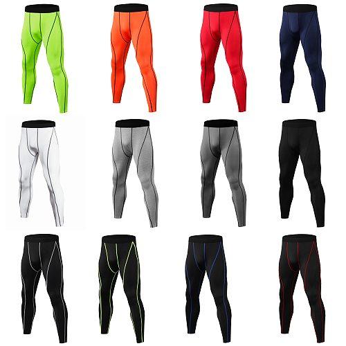 Compression Running Pants Tights Men Gym Training Sport Pants Leggings Fitness Sportswear Long Trousers спортивные штаны мужские
