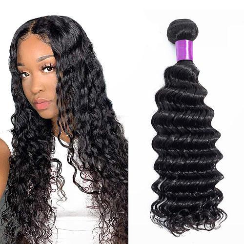 Deep Wave Bundles Brazilian Hair Weave Bundles Deep Curly 30 inch Hair Extensions For Black Women Human Hair Bundles