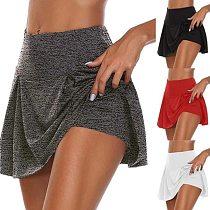 Summer Women Exercise Tennis Skirt Golf Mini Sports Skirt Performance Running Short Skirt
