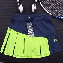 Girls Tennis Skorts with Built In Short , Top Quality Patchwork Thick Material Athletic Yoga Badminton Skirt Women Tennis Shorts