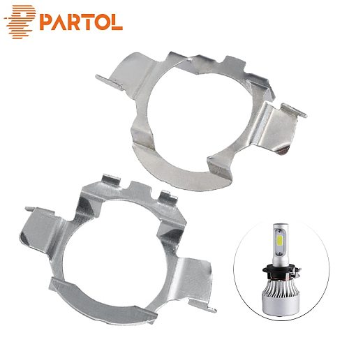 Partol H7 LED Headlight Bulb Retainer Adapter Holder for BMW X5 AUDI A3 A4 H7 Bulb Adaptor Base for VW Buick NISSAN Mercedes-Ben