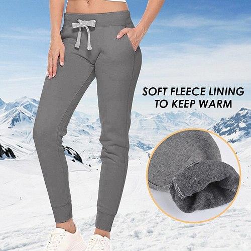 VERTIVE 2020 New Autumn Women Sweatpants Casual Solid Color Trousers Thin Fleece Warm Pants Female Workout Sports Sweatpants