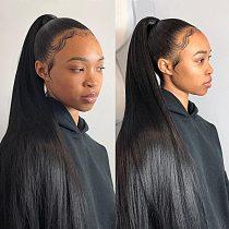 ALI GRACE Hair Brazilian Straight Hair Bundles 1/3/4 Pcs Straight Human Hair Bundles 30 32 34 Inch Remy Hair Weave Natural Color