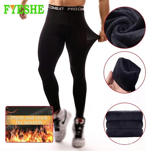 Autumn Winter Mens Gym Compression Leggings Running Sports Male Fitness Jogging Pants Workout Quick dry Yoga Trousers